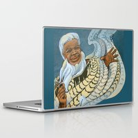 maori Laptop & iPad Skins featuring Koro, the Maori Storyteller by Patricia Howitt