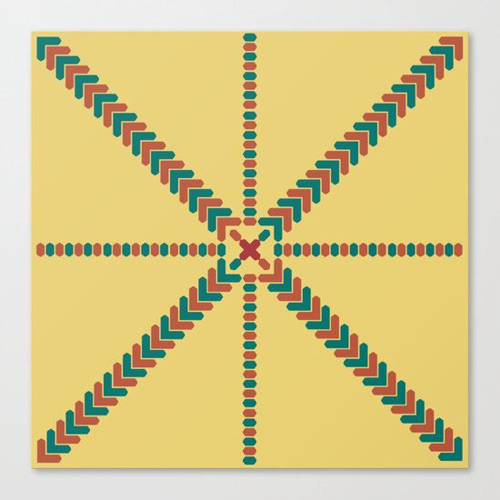 X Marks the Center Canvas Print