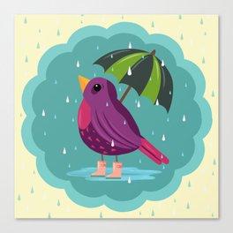 Rainy Days Are Still Good Days Canvas Print
