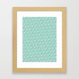 Sea Green Waves Pattern Framed Art Print