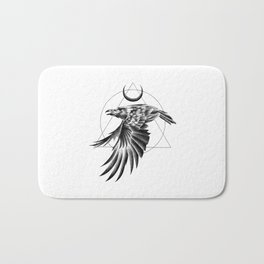 THE RAVEN AND THE MOON Bath Mat
