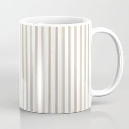 Farmhouse Ticking Stripes in Beige Coffee Mug