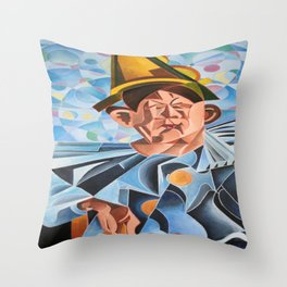 Not Clowning But Frowning Throw Pillow
