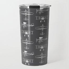 Biplanes // Charcoal Travel Mug