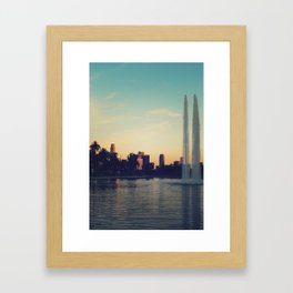 Echo Park Post Card Framed Art Print