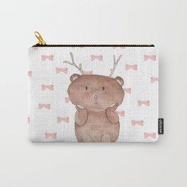 Christmas Reinbear Carry-All Pouch