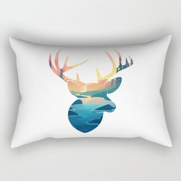 Deer Illustration Rectangular Pillow