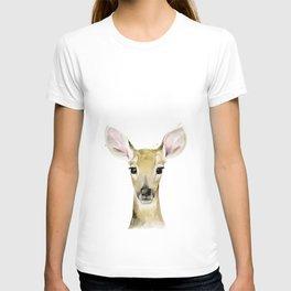 Fawn, Animal portrait #society6 T-shirt