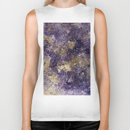 Writings in the Sky the Night Galaxy watercolor by CheyAnne Sexton Biker Tank