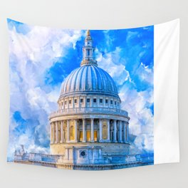 London - The Dome Of St Paul's Cathedral Wall Tapestry