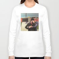 mid century Long Sleeve T-shirts featuring Mid Century Modern by Popcorn Jones