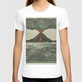 Volcano Woodcut T-shirt