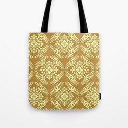 Japanese Medallion Pattern, Mustard Yellow Tote Bag