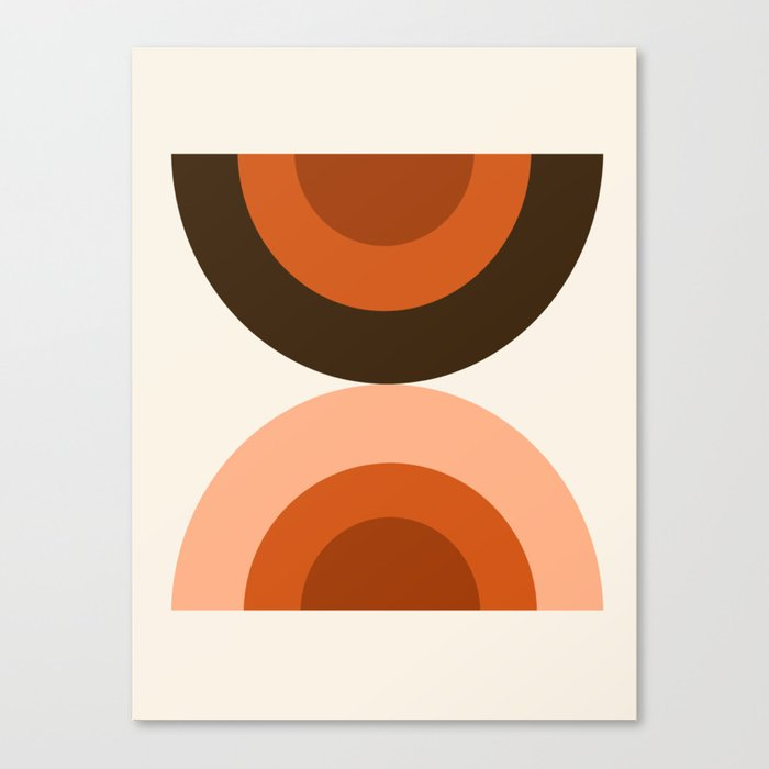 Dig It - minimalist 70s style retro vibes throwback poster minimal art decor Leinwanddruck