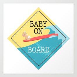Baby On Board Art Print