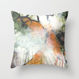 Thicket  - Square Abstract Expressionism Paintng Throw Pillow