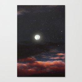 Dawn's moon Canvas Print