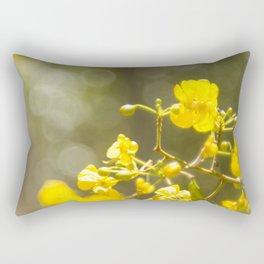 Popcorn Flower Bokeh Delight Rectangular Pillow