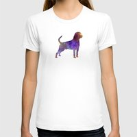 rottweiler T-shirts featuring Rottweiler in watercolor by Paulrommer