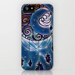 Moon swirl dreamcatcher iPhone Case