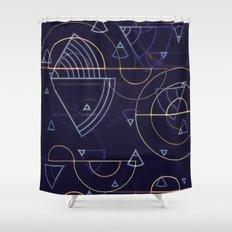abstract geometrics Shower Curtain