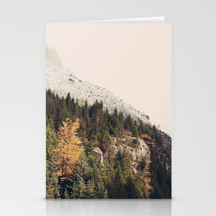 Winter Mountain Morning Stationery Cards