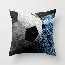 Soccer art variant vs 1 Throw Pillow