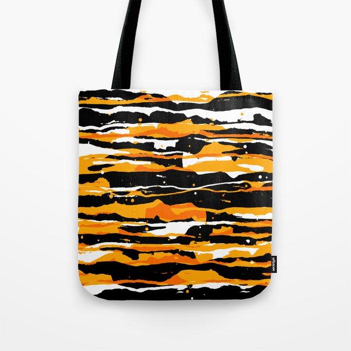 black and orange 02 Tote Bag