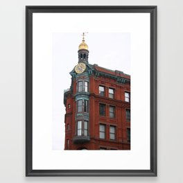 Red in sight Framed Art Print