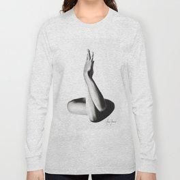 Nude Woman Charcoal Study 69 Long Sleeve T-shirt