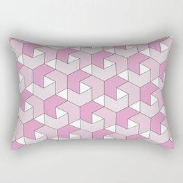 Chevrons - Pink Rectangular Pillow