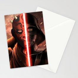 Darth Maul & Vader split Stationery Cards