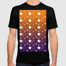 Stars MEDIUM Mens Fitted Tee Black