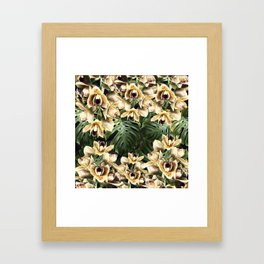 Hot Summer Tropical Orchid Jungle Print Framed Art Print