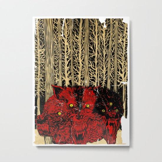 HELL WOLVES Metal Print