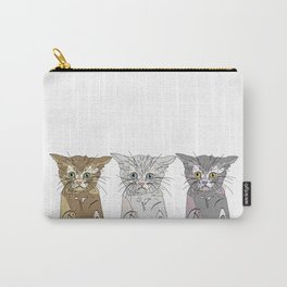 Triple Kitties Carry-All Pouch