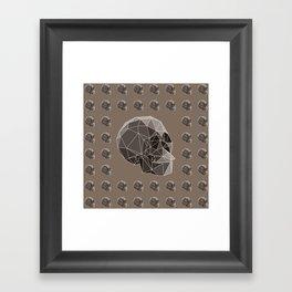 Geometric skulls Framed Art Print