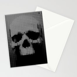 Skull Lines Stationery Cards