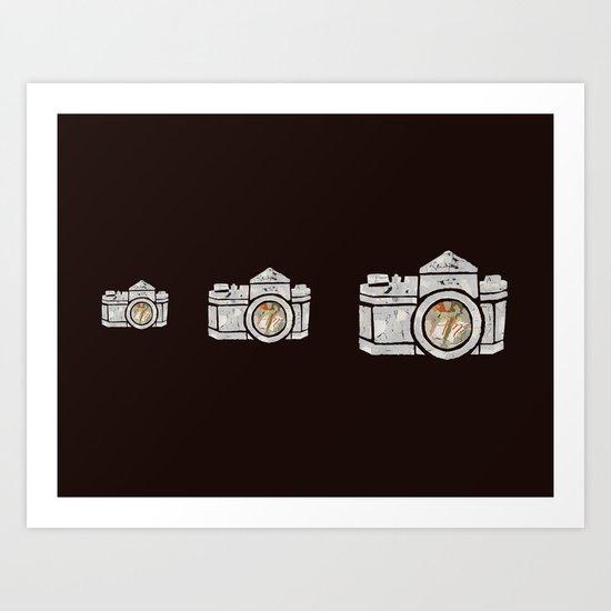 White Camera Art Print