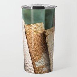 Vintage Suitcase - Textures Travel Mug