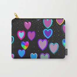 Confetti Hearts Carry-All Pouch