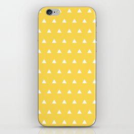 Triangles on a Sea of Yellow iPhone Skin
