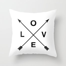 Love and Arrows Throw Pillow