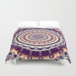 Abstractions in colors (Mandala) Duvet Cover