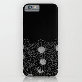 Daisy Boarder Black iPhone Case