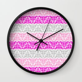Chevron Triangle Pastel Color Wall Clock
