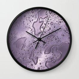rainwater on glass gradient 0884 Wall Clock