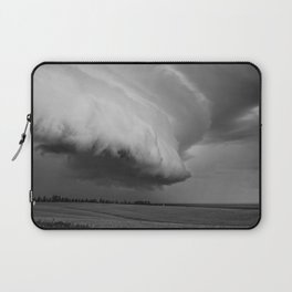 Cape Tryon Vortex Black and White Laptop Sleeve