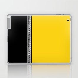 Greek Key 2 - Yellow and Black Laptop & iPad Skin