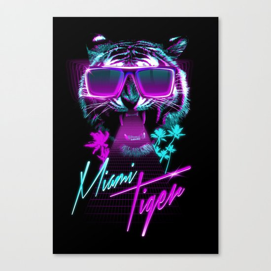 Miami Tiger Canvas Print